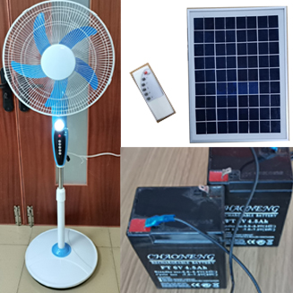 New 12V ACDC Rechargeable Stand fan with LED USB and remote control