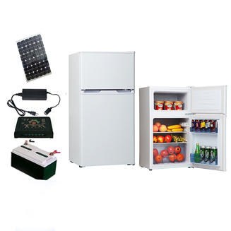 50L-300L 12V/24V DC Solar Off Grid Fridge Refrigerator with 24 Hours Back up