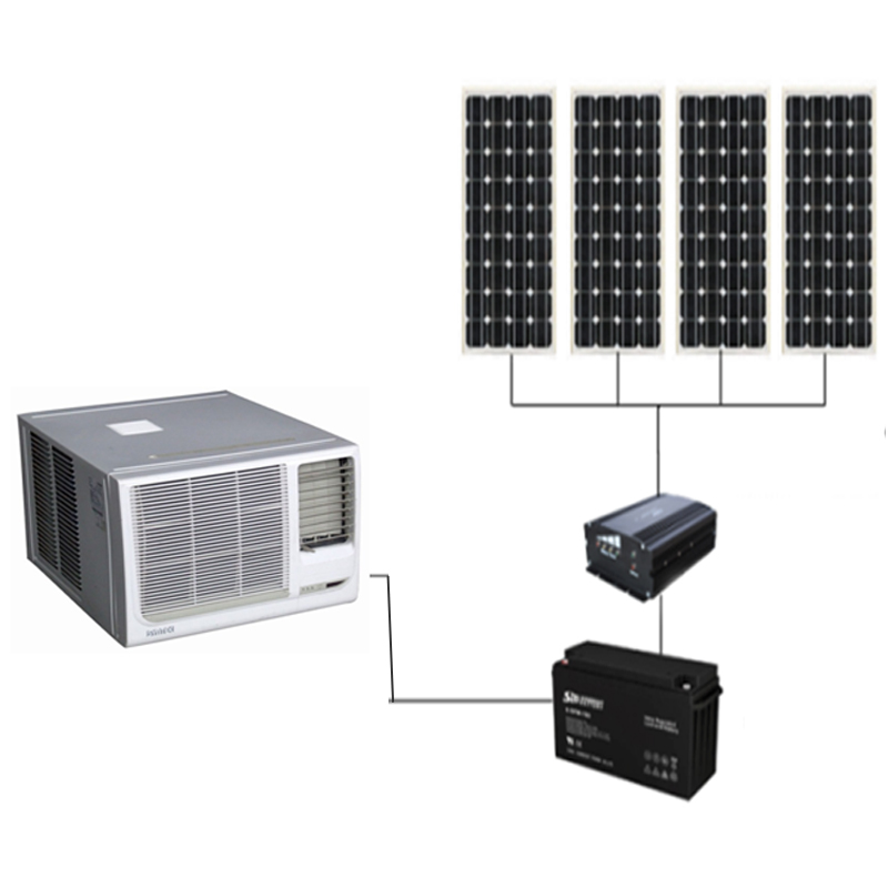 Window type 12V/24V/48V DC 6000btu-24000btu 100% off Grid Solar Air Conditioner