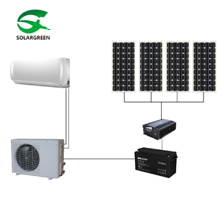 24V DC 6000btu-9000btu 100% off Grid Solar Air Conditioner with Panasonic Compressor and Motors