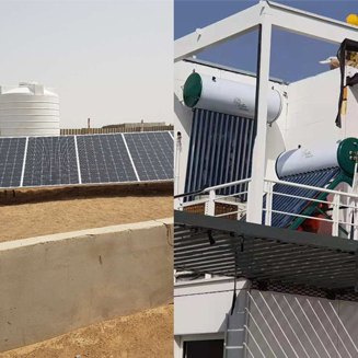 120000btu 10 ton DC 48V solar air conditioner installed in Sharjah university