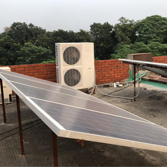 ACDC on grid solar air conditioner installed in Bangladesh