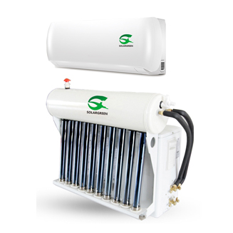 Hybrid Solar thermal Air Conditioner with Vacuum Tubes Saving 30%-50%