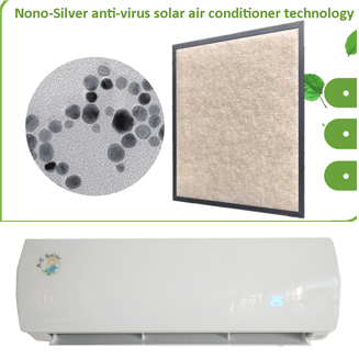 All new solar air conditioner order will be provided covid-19 virus killer filter freely