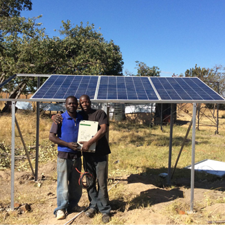Solargreen solar DC water pump installed in Africa